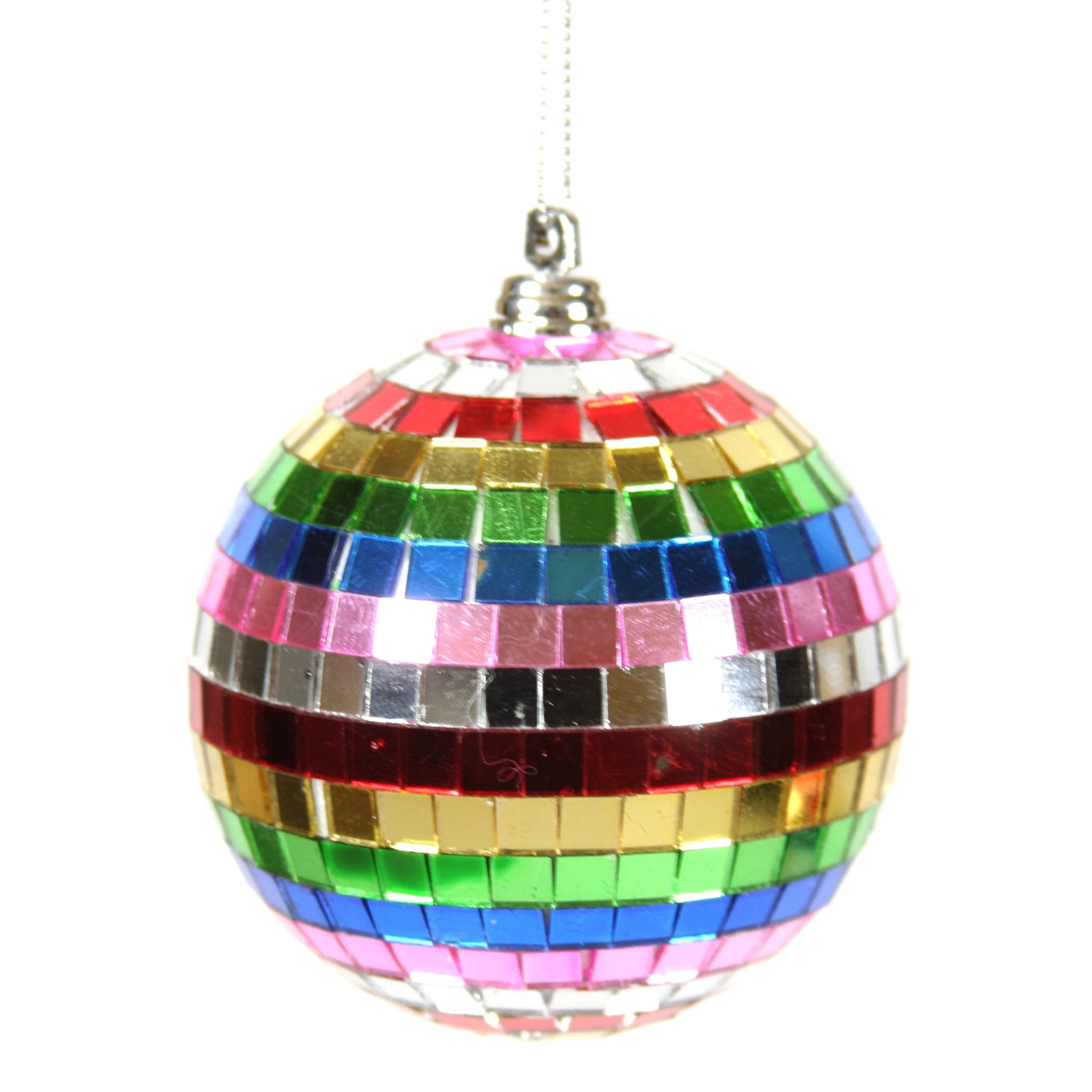 Rainbow Disco Ball Ornament
