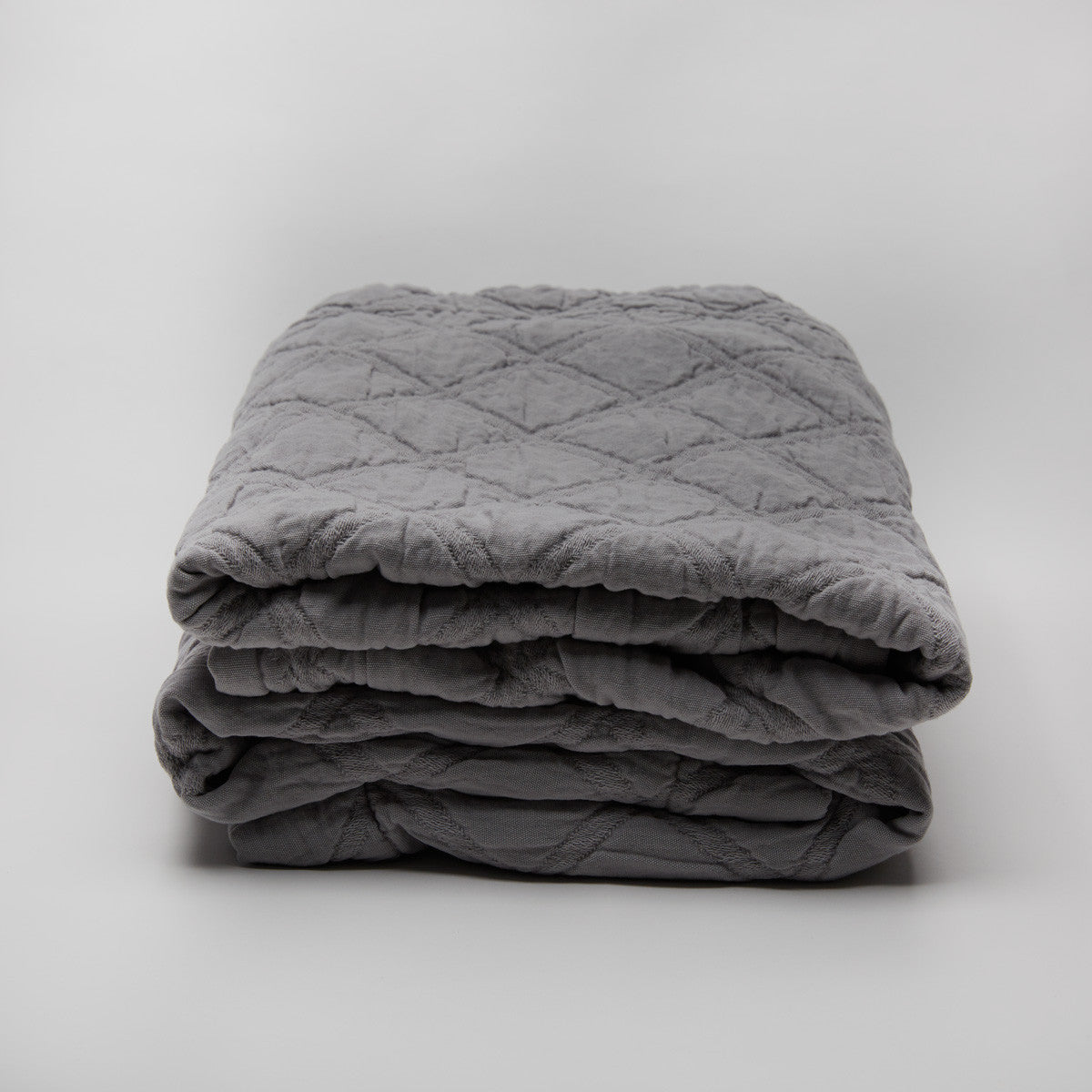 Portier Cotton Coverlet Dash Grey