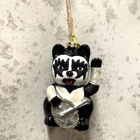 Mercury Glass Kiss Cat- Starchild Lucky Cat- Gene Simmonds