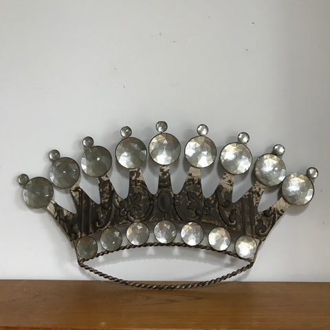 Ornate Pressed Tin Crown Wall Plaque