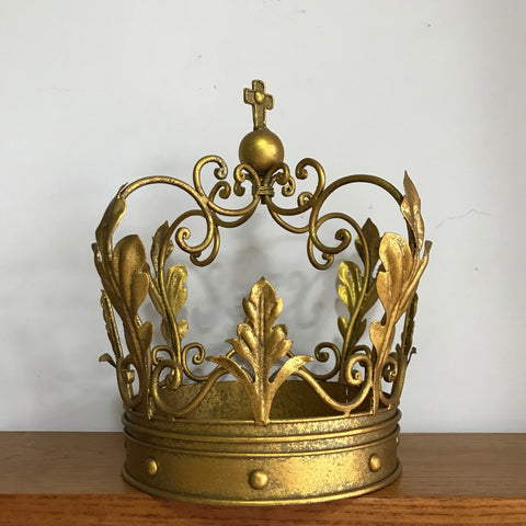 Golden Iron Ornate Crown