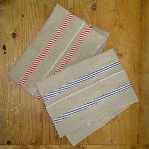 French 100% Linen Tea Towel - Diagonal Stripes Charvet Editions