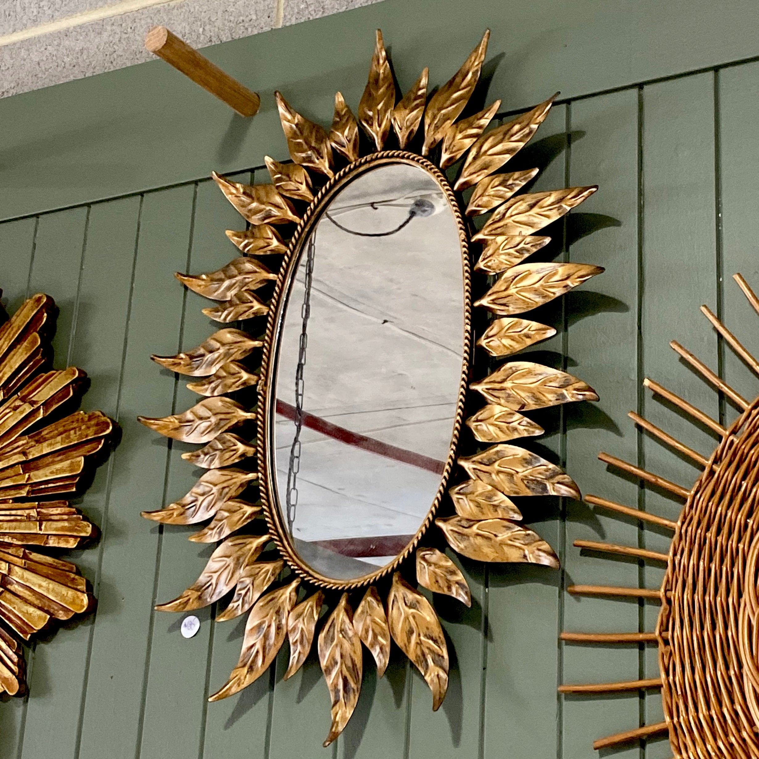 Oval Gold Leaf Mirror