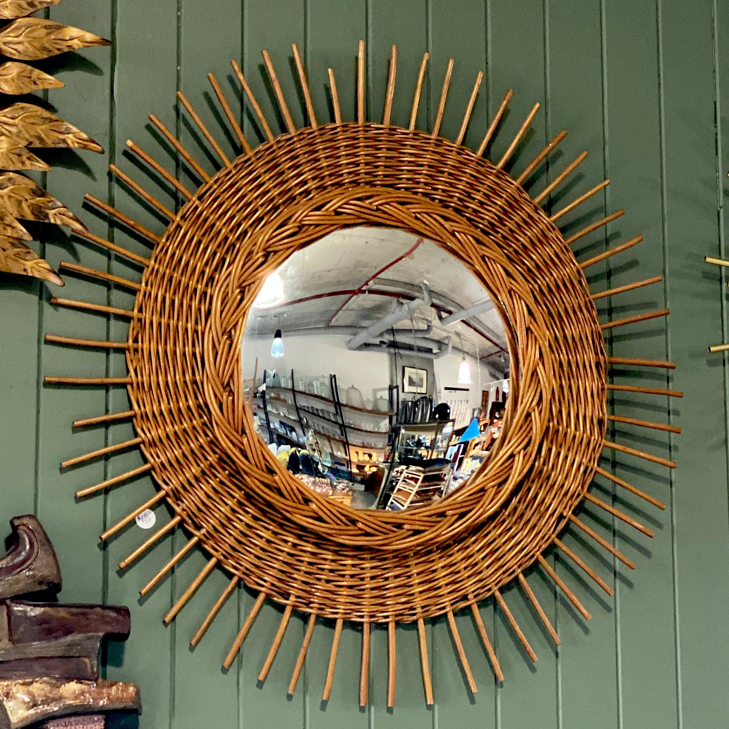 Wicker Starburst Mirror