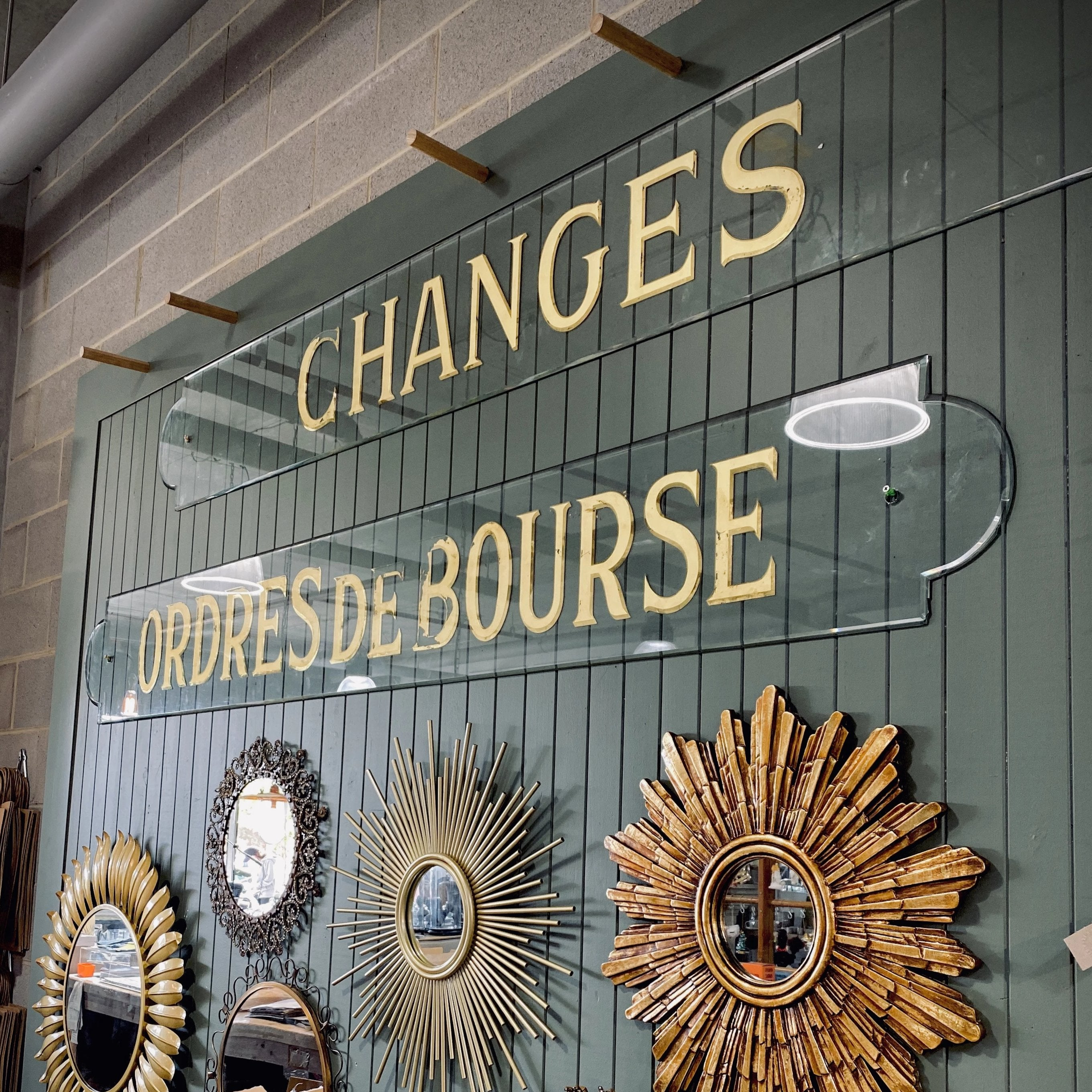 CHANGES - Vintage French Bank Sign