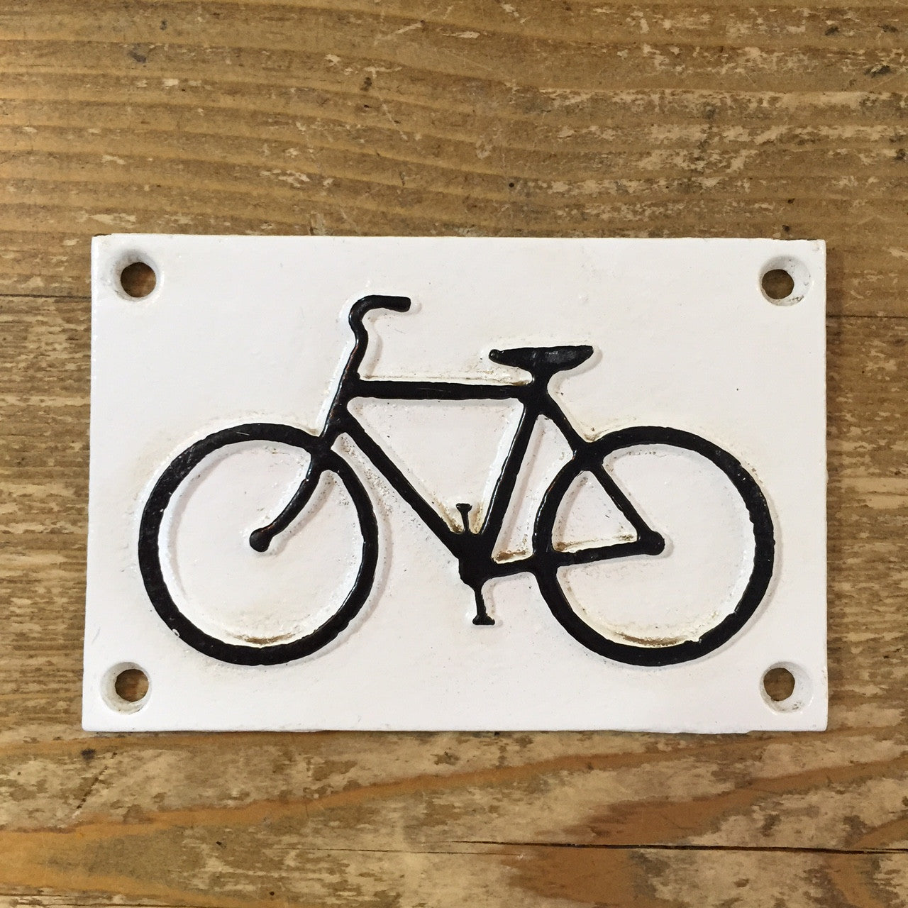 Cast Iron Bike sign