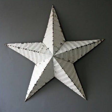 Authentic Amish Barn Star - large 74 CM DIAMETER - WHITE