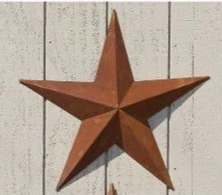 Authentic Amish Barn Star - large 75 CM DIAMETER - RUSTED IRON