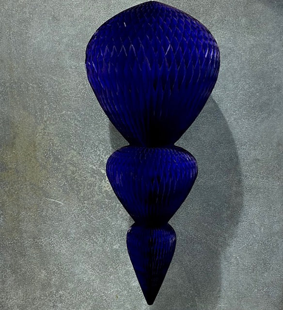 European Honeycomb Hanging Paper Decorations: NAVY GIANT DROPLET