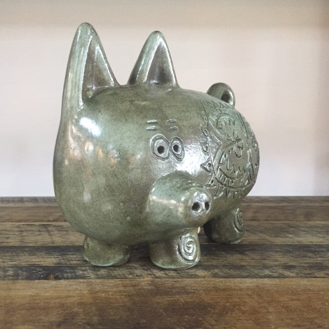 Betty McLaren Ceramic Fat Piggy Bank