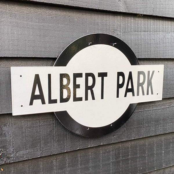 Albert Park Victorian Railways Enamel Sign