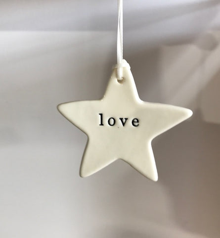 Paper Boat Press Hanging Love Star Decorations