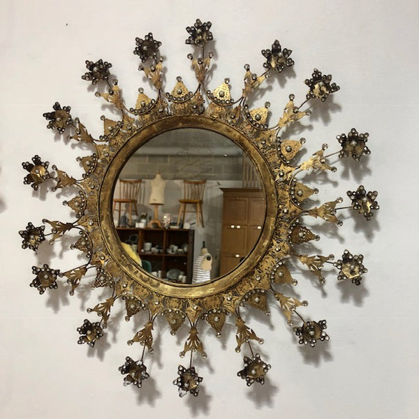 Medium Golden Starburst Mirror