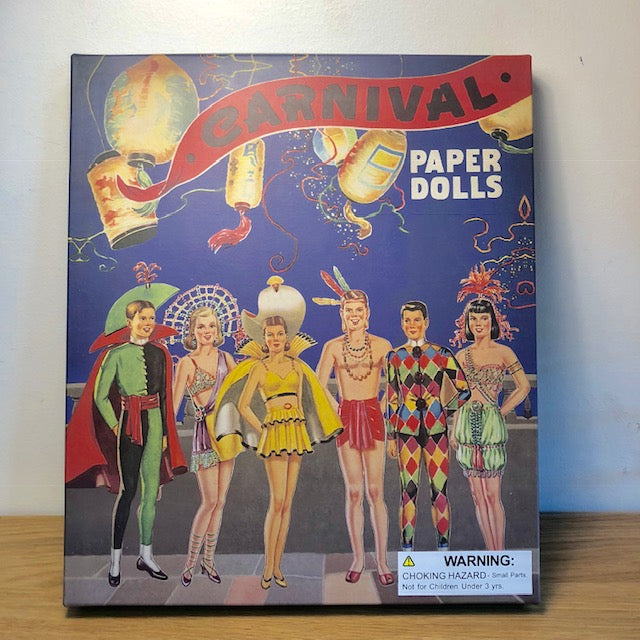 Old School Carnival Paper Doll Set