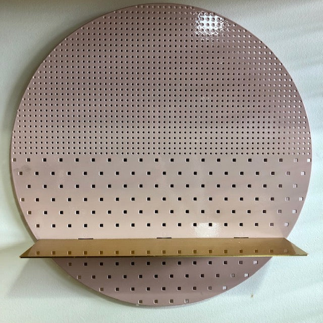 Bride & Wolfe Pink Circle with Brass Shelf