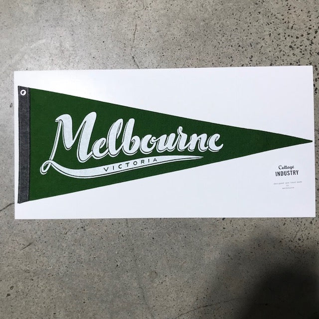Melbourne Pennant - Green and Grey