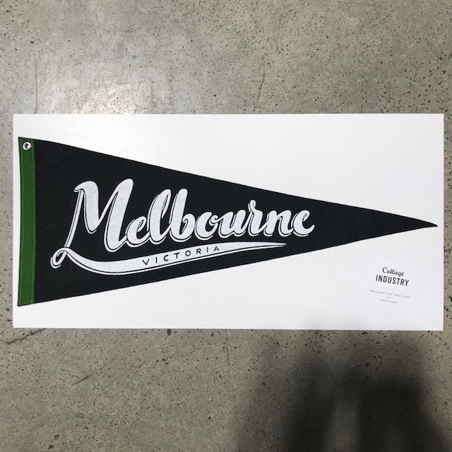 Melbourne Pennant - Black and Green