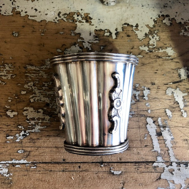 Silver Plated Antiqued Vessel