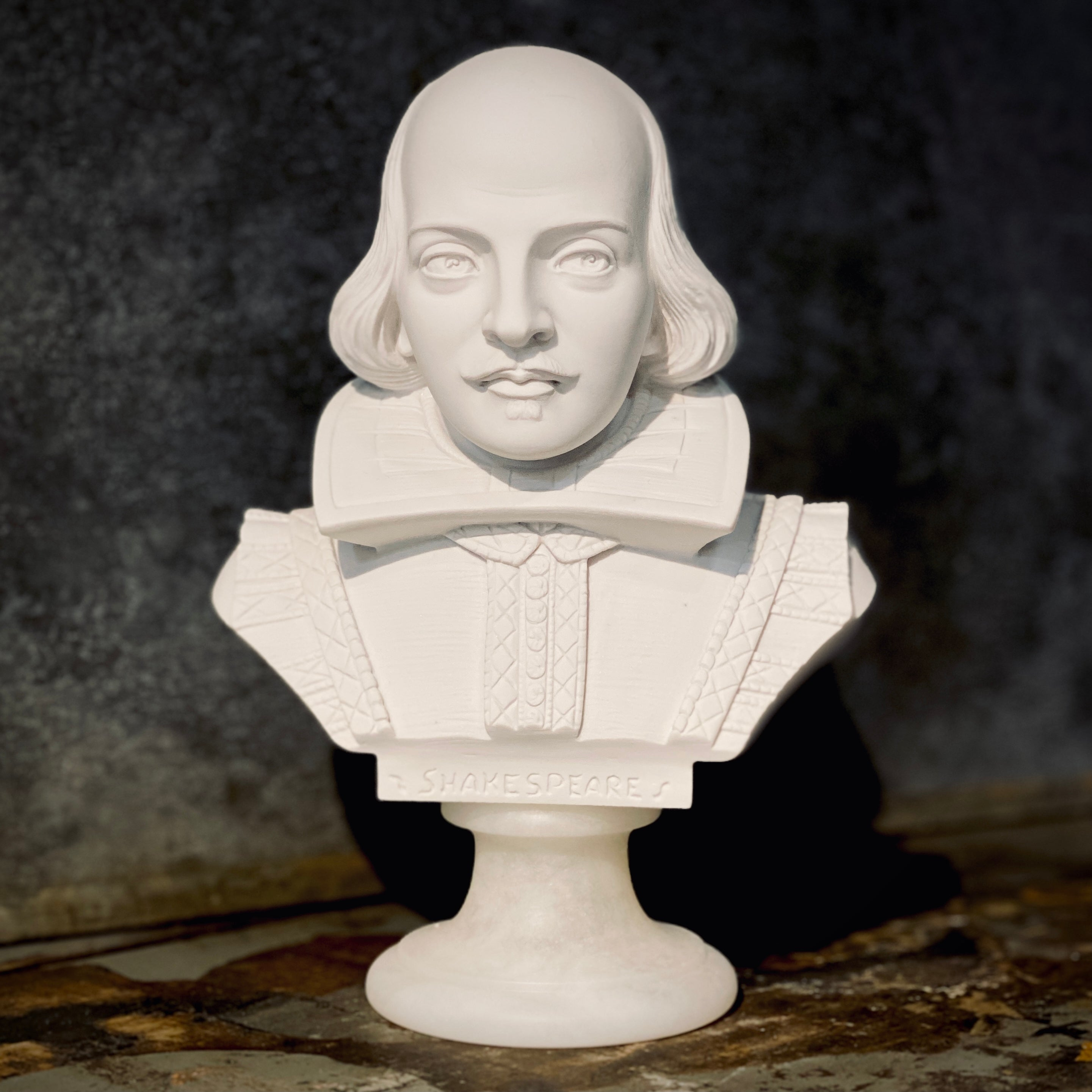 ALABASTER BUST - SHAKESPEARE - 22cm