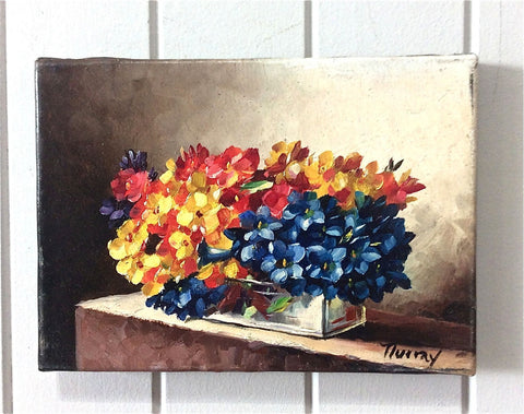 Traditional French Still Life - Landscape Floral Painting