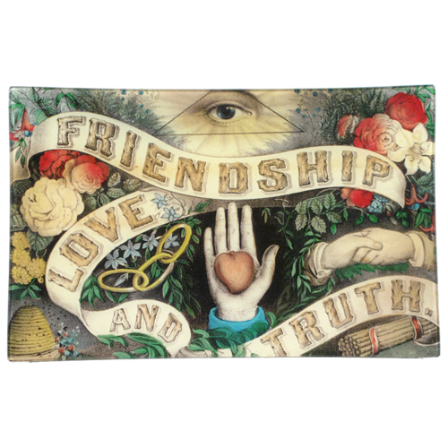 John Derian Friendship Love Truth Tray