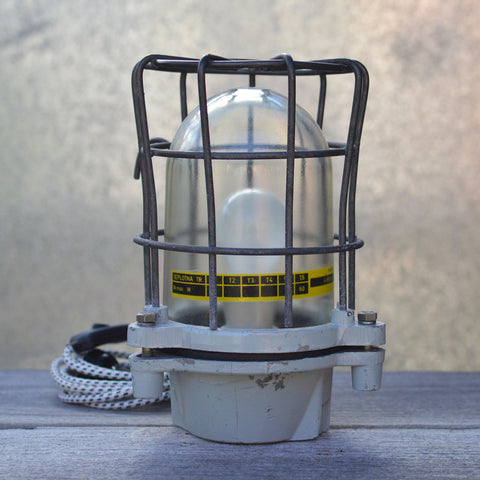 Vintage Industrial Russian Ship Lamp