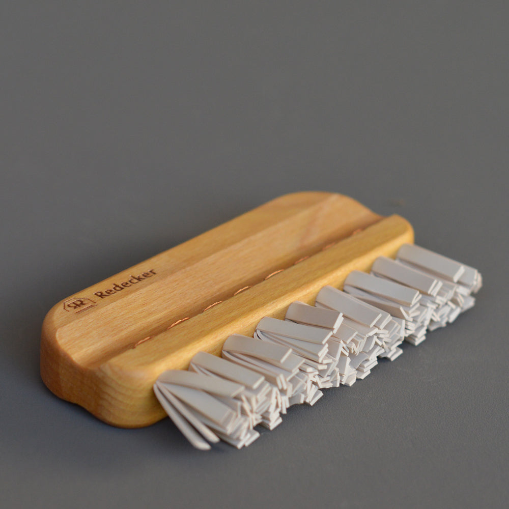Lint Brush with Rubber Bristles by Redecker