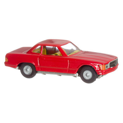 Toy Tin Car MERCEDES COUPE 350 SL from Czech Republic- RED