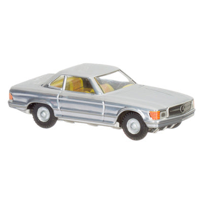 Toy Tin Car MERCEDES COUPE 350 SL from Czech Republic- SILVER