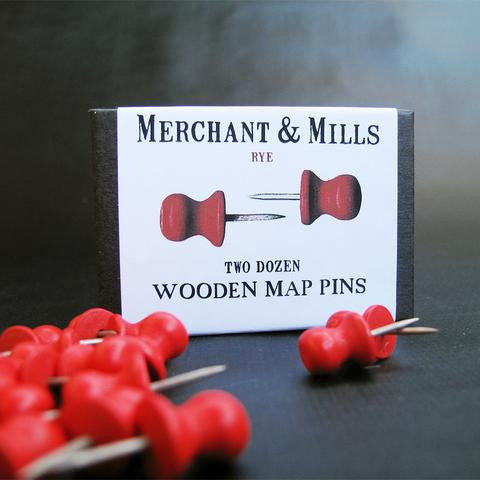 Merchant and Mills Wooden Map Pins