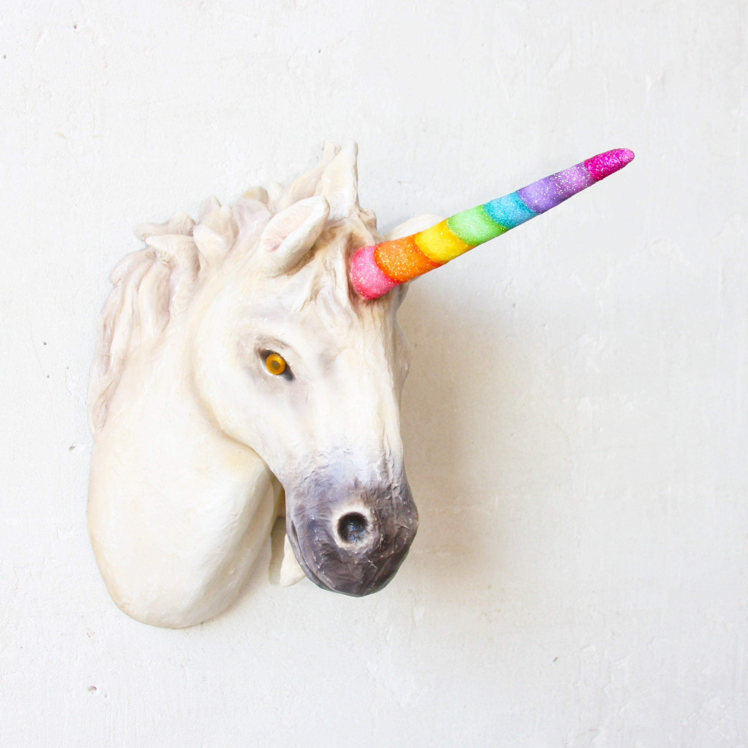 Rainbow Unicorn Trophy Wall Mount