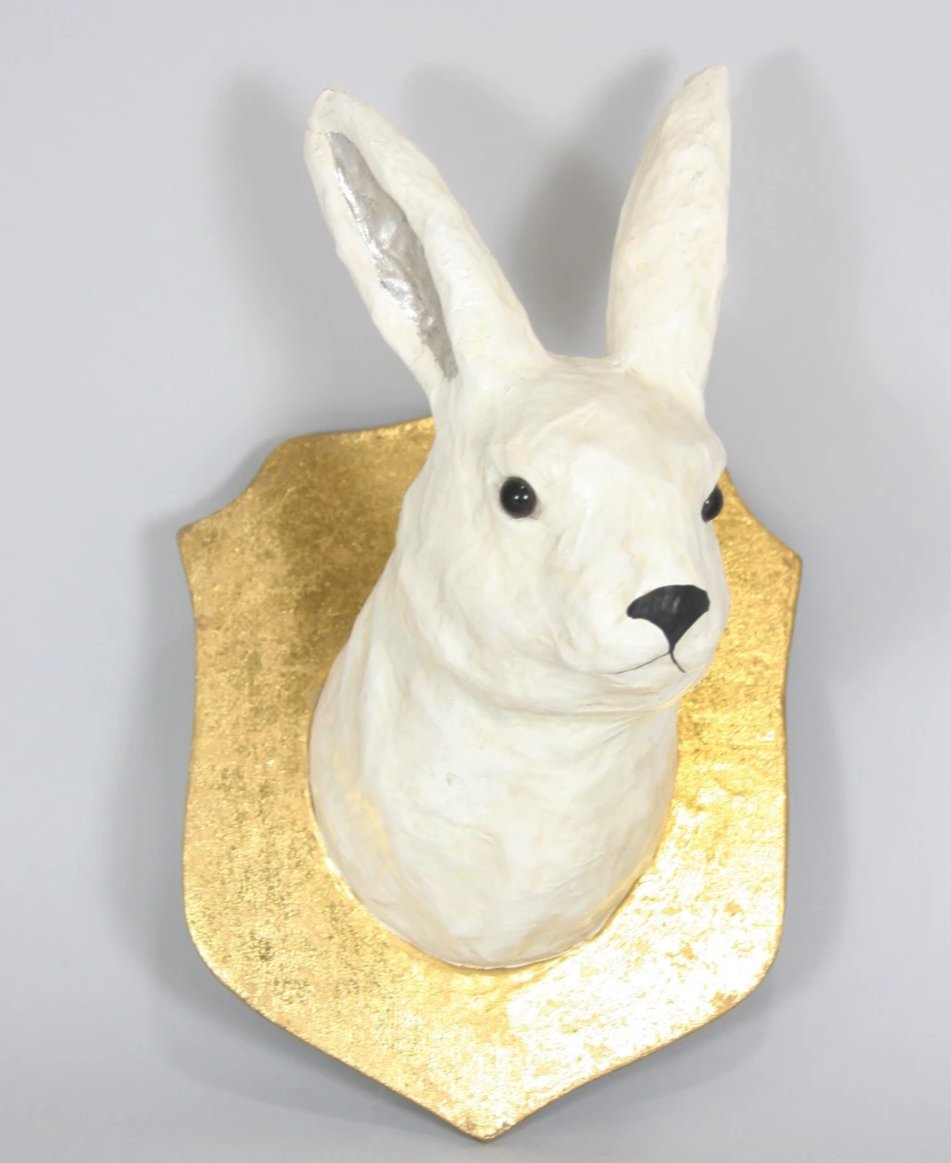 Winter Hare Trophy Wall Mount