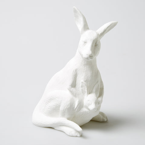 Bone China Kangaroo Lamp