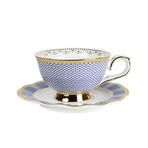 Teacup and Saucer set - Parlour Blue