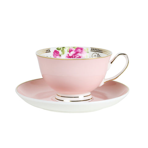 Teacup and Saucer set - Parlour Pink