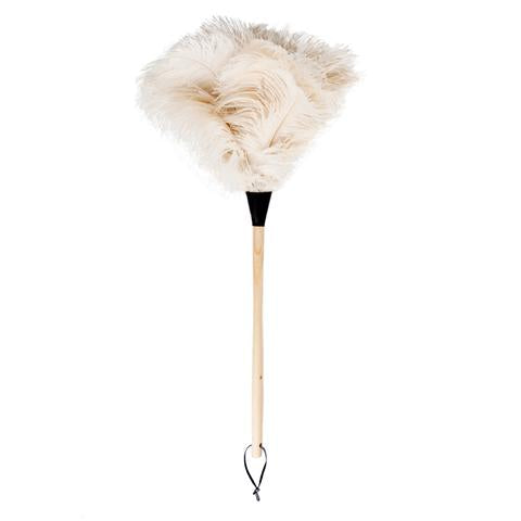 White Ostrich Feather Duster 90cm Long