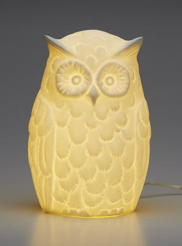 Porcelain Retro Owl Lamp