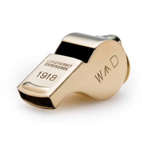 The Acme Thunderer 58 Broad Arrow Whistle in Polished Brass