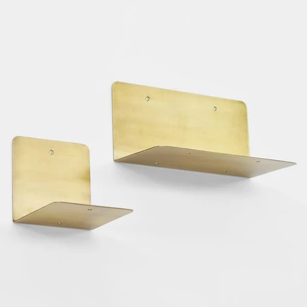 Narrow Brass Shelf Fog Linen Work Japan