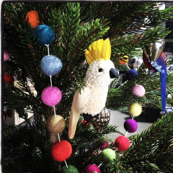 Brush Cockatoo Hanging Decoration