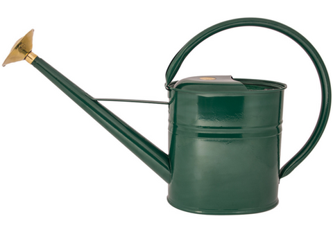 8 Litre Slimcan Metal Watering Can - Green. Haws UK.