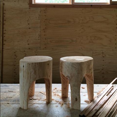 Beetle Track Stool by Greg Hatton - Raw
