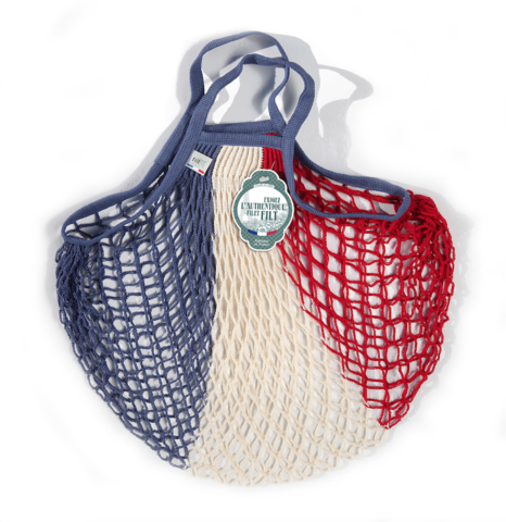 French String Bag in French Flag Stripe
