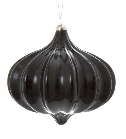 Large black Mercury Glass Bauble