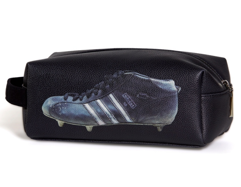 Football Boot Toiletry Bag in Black