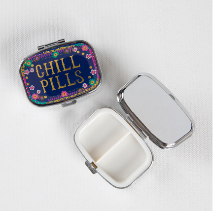 Pill Box with Blue Chill Pills Cover