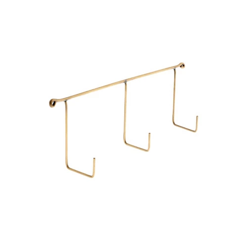 Brass Triple Hook Rail by Fog Linen Work Japan