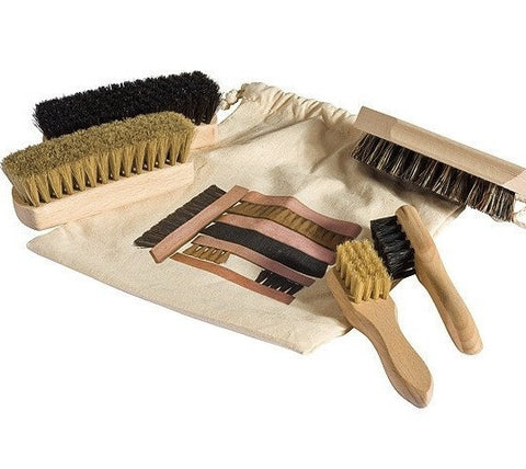 Beechwood Shoe Shine Kit - Redecker