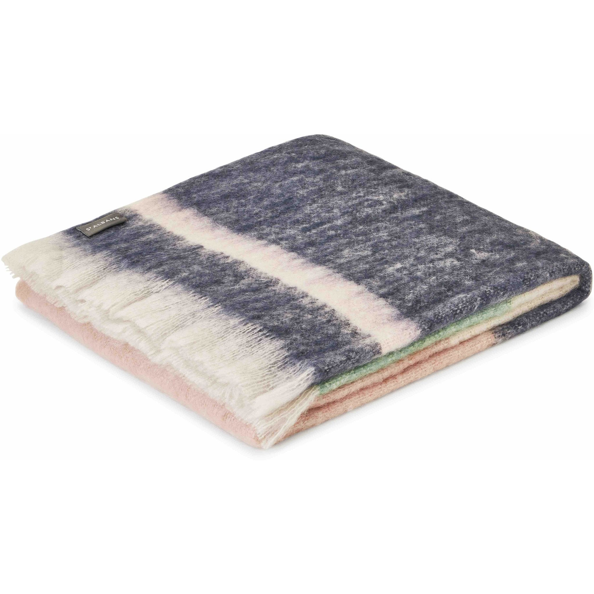 Mohair Poppy St Albans Throw