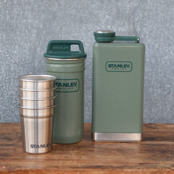 Stanley Adventure Hip Flask Set Hammertone Green